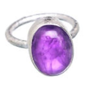 Amethyst 925 Sterling Silver Ring sz 4.25 Ana Co.!